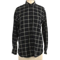 Madewell Top Size Small Black & White Flannel Button Down Blouse Shirt Comfy Photo