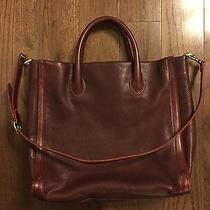 Madewell Tote Leather Wine/red Shoulder Bag Photo