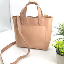 Madewell Transport Tote Small Crossbody 2 Way Convertible Bag Blush Pink Leather Photo