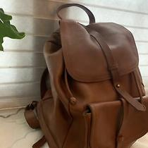 Madewell. Transport  Xlarge Cognac All Leather Backpack Carryall Photo