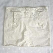 Madewell White Denim Lace Up Back Sailor Mini Skirt  Women's Size 27 / W30 Photo