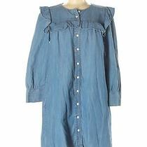 Madewell Women Blue Casual Dress M Photo