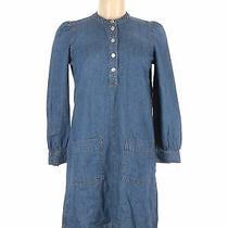 Madewell Women Blue Casual Dress Xs Photo