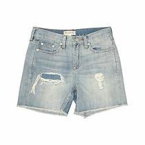 Madewell Women Blue Denim Shorts 24w Photo