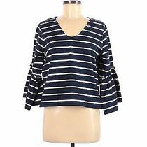 Madewell Women Blue Long Sleeve T-Shirt M Photo