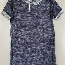Madewell Women's Blue & Black Textured Short Sleeve Dress W Pockets Size Xs Nwt Photo