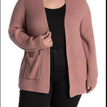 Madewell Women's Nolan Ribbed Open Front Cardigan Sweater Pockets Plus Size 2x Photo