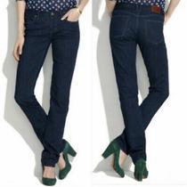 Madewell Womens Rail Straight Denim Jeans Med Blue  Wash Size 30 X 32 Photo