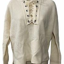 Madewell Women's Small Jameson Merino Wool Sweater Waffle Hoodie Tie Front L/s Photo