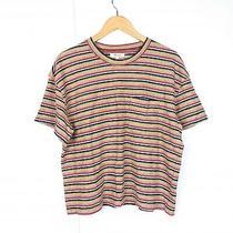 Madewell Womens Xl Multicolor Stripe Chest Pocket Crewneck Short Sleeve T-Shirt Photo