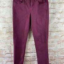 Madewell Womens Burgundy Skinny Skinny Ankle Pants Size 27 Photo