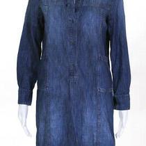 Madewell  Womens Long Sleeve Denim Shirt Dress Blue Size Medium Photo