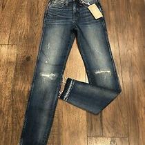 Madewell Womens Size 23 York Wash 9 High Rise Distress Skinny Denim Jeans K1868 Photo