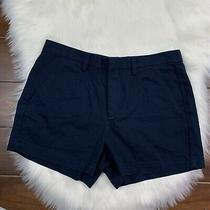 Madewell Womens Size 4 Deep Navy Tailored Shorts 100% Cotton Pockets Photo