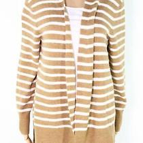 Madewell Womens Sweater Brown Size Small S Cozy Walker Striped Cardigan 50 239 Photo