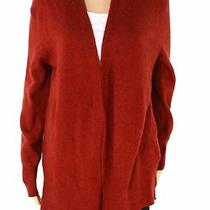 Madewell Womens Sweater Red Size Xs Cozy Walker Open-Front Wool Cardigan 54 021 Photo