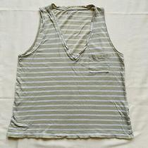 Madewell Womens Tank Top Vneck Sleeveless Striped Casual Cotton Used Medium M Photo