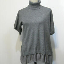 Madison Marcus Nwt Silk Cashmere Short Sleeve Turtleneck Sweater Size Xs Photo