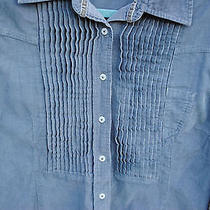 Madison Womens Western Bib-Front Button-Up Shirt Sueded Cotton Size 10 Photo