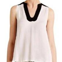 Maeve Anthropologie Enna Tank Top  Black White Size 4 Euc Photo