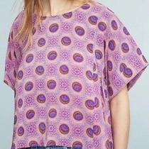 Maeve Anthropologie Milla Blouse Xs Top Shirt 98 Lavender Orange Medallion Boho Photo