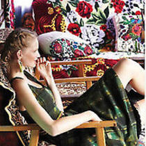 Maeve Anthropologie Painted Plaid Dress 4 Photo