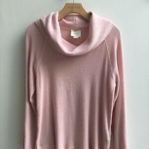 Maeve Anthropologie Ribbed Blush Sweater Cowl Neck Sz M Pullover Oversized Photo