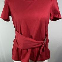 Maeve by Anthropologie Red Belted Blouse Size M Photo
