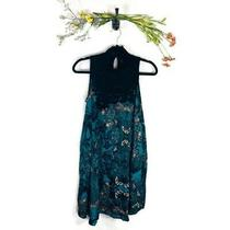 Maeve Floral Dress Womens Size Xs Anthropologie Green Blue Black Excellent Euc Photo