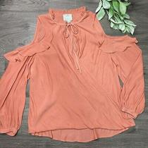 Maeve Liesel Cold Shoulder Ruffle Wrap Front Blouse Size Small Photo