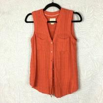 Maeve Size 2 Anthropologie Sunseeker Top Sleeveless Button Front Ae7 Photo