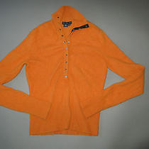 Mag by Magaschoni Cashmere Fall Orange Sweater Size Small Turtle Neck Snaps Photo