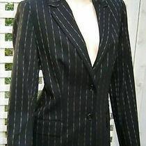 Mag by Magaschoni Wool Blend Black Pinstripe Blazer Jacket Size 10.new  Photo