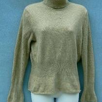 Magaschoni 100% Cashmere Brownish Gray Turtleneck Flare Sleeve Sweater Size S Photo