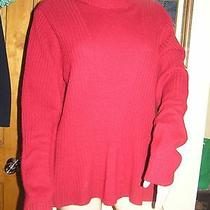 Magaschoni 100% Cashmere Dark Red Turtleneck  Sweater Xl Photo