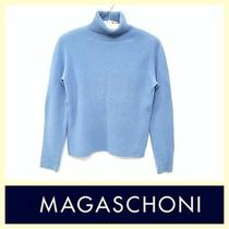 Magaschoni 225 Periwinkle Blue 100% Cashmere Turtleneck Sweaters Photo