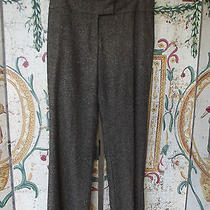 Magaschoni Brown Wool Dress Pants Sz 10 Fully Lined Falt Front Neiman Marcus Photo