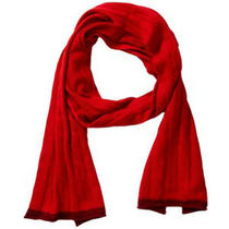 Magaschoni  Cashmere Cabled Scarf Red Photo