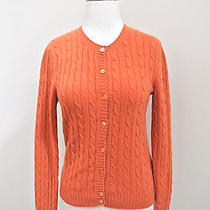 Magaschoni Cashmere Cardigan Sweater S Cable Knit Photo