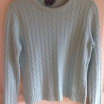 Magaschoni Cashmere Crewneck Cable Sweater Size Small Photo