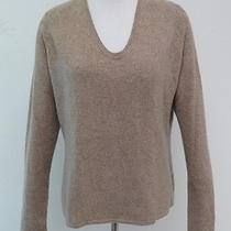 Magaschoni Cashmere Scoop Neck Sweater Latte Size Large Gently Worn Photo
