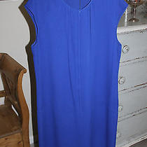 Magaschoni Collection Dress Bright Blue 100% Silk Sz 16 Nwt Photo