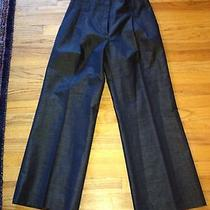 Magaschoni Collectionhigh-End Impeccabledesigner Nwot Chintz Navy Pants L Photo