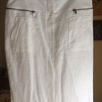 Magaschoni Collection White Linen Skirt Photo
