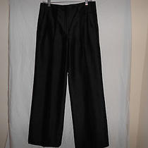 Magaschoni Collection Wide Leg Silk Pants   8 Photo