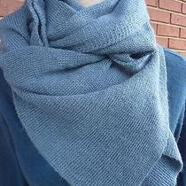 Magaschoni Dusty Aqua Scarf Cashmere Blend  Msrp 295 Photo