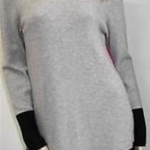 Magaschoni Gray With Blackfushia Color Block 100% Cashmere Dressmnwt390. Photo