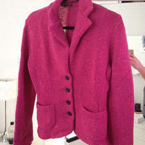 Magaschoni Hot Pink Sweater Blazer (Medium) (Great Condition) Photo