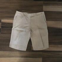 Magaschoni Linen Bermuda Tan Shorts Size 8 Skimmer Crop Photo