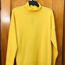 Magaschoni Mock Neck Cashmere Blend Pullover Sweater Yellow Nwt Size Xs 198.00 Photo